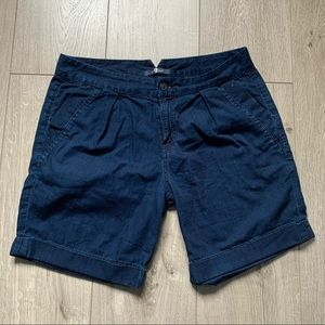 7 for all mankind blue chambray summer shorts 28 W